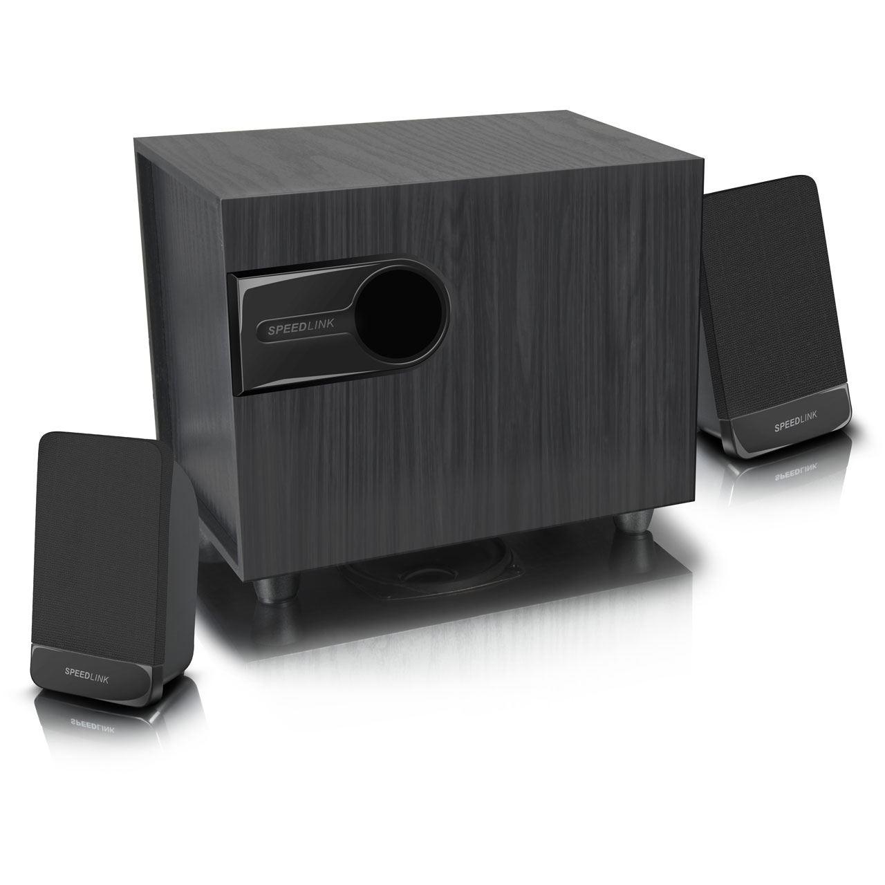 speedlink libitone 2 1 subwoofer system schwarz 2 1 systeme hardware. Black Bedroom Furniture Sets. Home Design Ideas