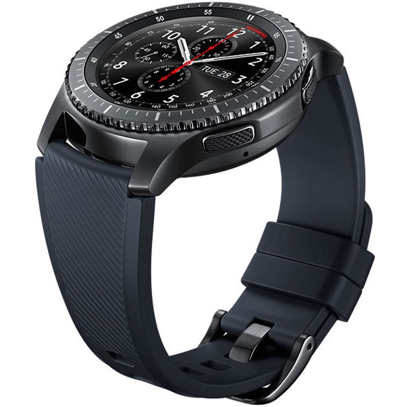 samsung gear s3 silikon armband 22 mm standard black. Black Bedroom Furniture Sets. Home Design Ideas