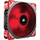 Corsair ML120 Pro rote LED 120x120x25mm 400-2000 U/min 16-37dB(A) schwarz/rot