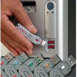 Lindy USB Port Schlösser 4xROT + key 4 Schlösser mit 1 Schlüssel