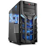 Sharkoon DG7000-G mit Sichtfenster aus Glas Midi Tower ohne Netzteil schwarz/blau