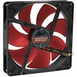 Phobya G-Silent 18 LED 180x180x32mm 0-950 U/min 10-19.9 dB(A) schwarz/rot