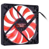 Phobya G-Silent 12 Slim Edition 120x120x15mm 1500-1950 U/min 20-29,9 dB(A) schwarz/rot
