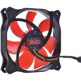 Phobya HP-S 12 Silent 120x120x25mm 1000-1450 U/min 20-29,9 dB(A) schwarz/rot