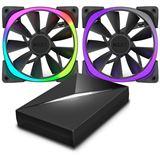NZXT Aer RGB 2-er Pack mit Controller 120x120x26mm 500-1500 U/min 22-33 dB(A) schwarz