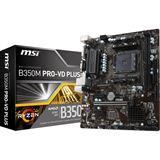 MSI B350M PRO-VD PLUS AMD B350 So.AM4 Dual Channel DDR4 mATX Retail