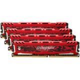 16GB Crucial Ballistix Sport LT rot DDR4-2666 DIMM CL16 Quad Kit