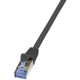 (€1,38*/1m) 5.00m LogiLink Cat. 6a Patchkabel S/FTP PiMF RJ45 Stecker auf RJ45 Stecker Schwarz halogenfrei / Premium