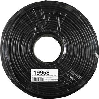 (€0,25*/1m) 100.00m InLine Koaxial Verlegekabel ohne Stecker Schwarz