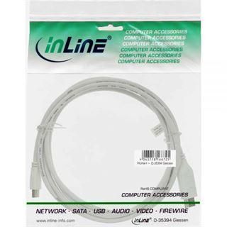 (€17,80*/1m) 0.50m InLine Displayport Adapterkabel Mini Displayport Stecker auf HDMI-Stecker Weiß