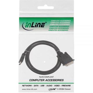 (€13,80*/1m) 0.50m InLine HDMI Adapterkabel HDMI-Stecker auf DVI 18+1 Stecker Schwarz