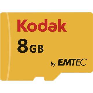 8 GB Kodak EKMSDM8GHC10K microSDHC Class 10 U1 Retail inkl. Adapter