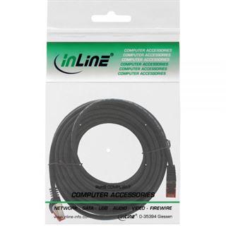 (€1,78*/1m) 5.00m InLine Cat. 6 Patchkabel S/FTP RJ45 Stecker auf RJ45 Stecker Schwarz halogenfrei / Knickschutzelement / Rastnasenschutz