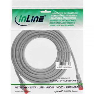 (€0,80*/1m) 40.00m InLine Cat. 6 Patchkabel S/FTP RJ45 Stecker auf RJ45 Stecker Grau halogenfrei / Knickschutzelement / Rastnasenschutz
