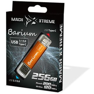 256 GB Mach Xtreme Technology Barium Series orange USB 3.0 und Typ C