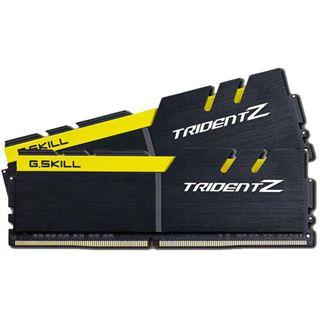 16GB G.Skill Trident Z schwarz/gelb DDR4-3200 DIMM CL15 Dual Kit