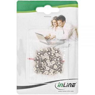 """InLine 100er Pack Schraubenset, für 2,5"""" Festplatte / SSD, 3mm, flacher Senkkopf, silber"""
