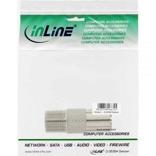 InLine Koaxial Adapter, IEC- Stecker (Antenne) auf F-Buchse