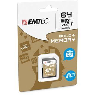 64 GB EMTEC Gold+ SDHC Class 10 U1 Retail