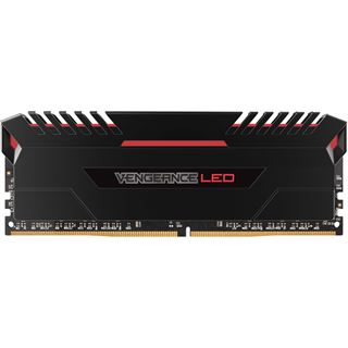 64GB Corsair Vengeance LED rot DDR4-3000 DIMM CL15 Quad Kit