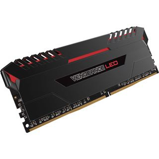 32GB Corsair Vengeance LED rot DDR4-2666 DIMM CL16 Quad Kit