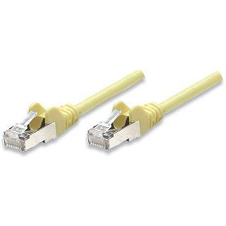 (€0,65*/1m) 7.50m Intellinet Cat. 6a Patchkabel SF/UTP RJ45 Stecker auf RJ45 Stecker Gelb Knickschutzelement / vergoldet