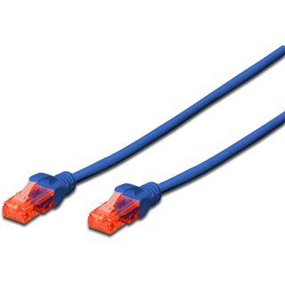 (€1,30*/1m) 3.00m Digitus Cat. 6 Patchkabel U/UTP RJ45 Stecker auf RJ45 Stecker Blau ungeschirmt