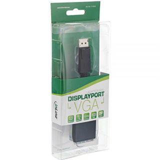 0.15m InLine Displayport Adapterkabel Displayport Stecker auf VGA 15pol Buchse Schwarz