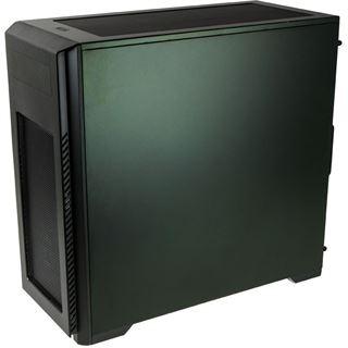 Phanteks Enthoo Pro M mit Sichtfenster Midi Tower ohne Netzteil titanium grün