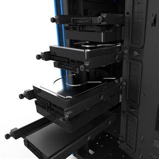 NZXT H440 gedämmt mit Sichtfenster Midi Tower ohne Netzteil schwarz/blau