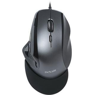 Delux M910 Ergonomic Laser Maus schwarz retail