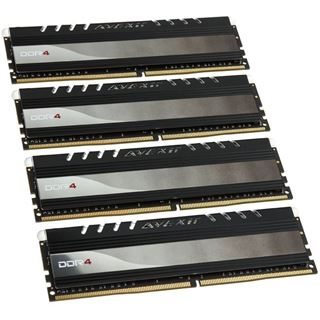 16GB Avexir Core Series rote LED DDR4-2666 DIMM CL17 Quad Kit