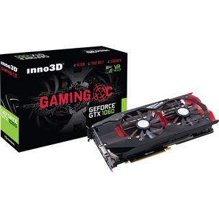 6GB Inno3D GeForce GTX 1060 Gaming OC Aktiv PCIe 3.0 x16 (Retail)