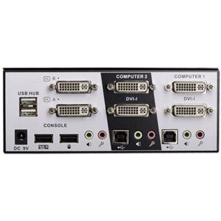 Lindy 2 Port DVI Dual Head KVM Switch Pro Audio USB 2 ohne Kabel