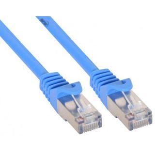 (€7,80*/1m) 0.50m InLine Cat. 5e Patchkabel F/UTP RJ45 Stecker auf RJ45 Stecker Blau
