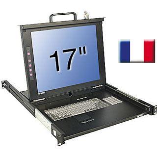 """Lindy 17""""LCD KVM Terminal Classic FR 19""""1HE Single Rail Schublade"""