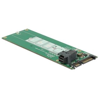 DeLOCK Konverter SATA 22 Pin + Mini SAS HD SFF-8643> M.2