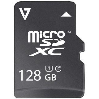 128 GB V7 VFMSD128GUHS1R-3E microSDXC Class 10 Retail inkl. Adapter