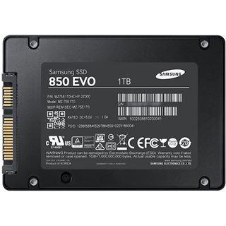 "1000GB Samsung 850 Evo Starter Kit 2.5"" (6.4cm) SATA 6Gb/s 3D-NAND TLC Toggle (MZ-75E1T0RW)"