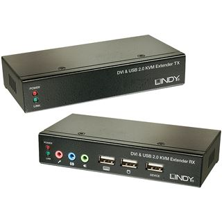 Lindy Ca6 KVM Extend DVI USB Audio 50m Extend DVI USB 2 50m Cat6