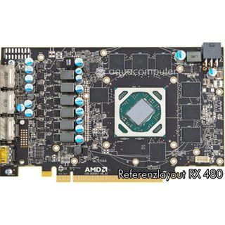 aqua computer kryographics für Radeon RX 480 Acryl Edition vernickelt