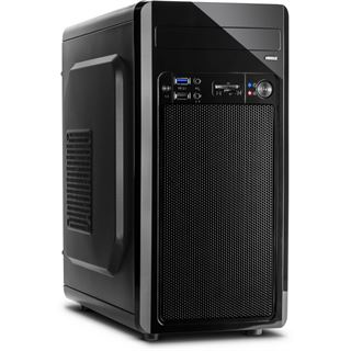 Inter-Tech MC-02 Midi Tower 500 Watt schwarz