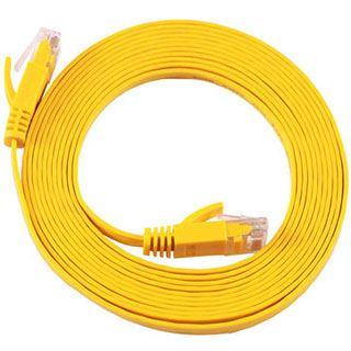 (€4,45*/1m) 2.00m Equip Cat. 6a Patchkabel flach S/FTP PiMF RJ45 Stecker auf RJ45 Stecker Gelb