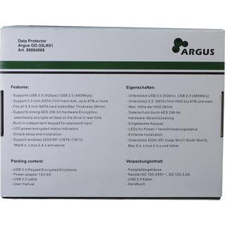 """Inter-Tech Argus GD-35LK01 AES 3.5"""" (8,89cm) USB 3.0 schwarz"""