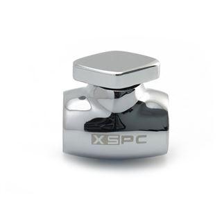 XSPC Absperrhahn mit 2x G1/4 Zoll IG - chrome