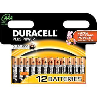 Duracell Plus Power LR03 Alkaline AAA Micro Batterie 1.5 V 12er Pack