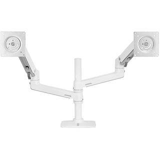 Ergotron LX Doppelschirmlösung für Tischmontage weiß