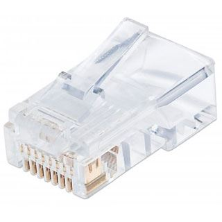 Intellinet Modularstecker RJ45, Cat5e, UTP, 3-Punkt, 100Stk