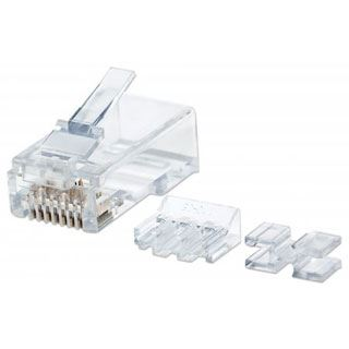 Intellinet Modularstecker , RJ45, Cat6A,UTP, 2-Punkt, 80 Stk.