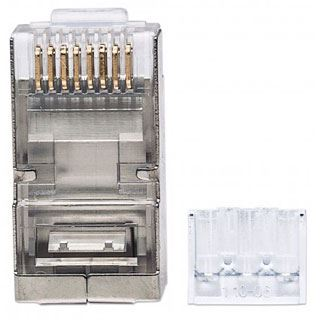 Intellinet Modularstecker , RJ45,Cat6A, STP,2-Punkt, 90 Stk.